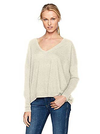 AG - Adriano Goldschmied Womens Shayla V Neck, Heather Sand, X-Small