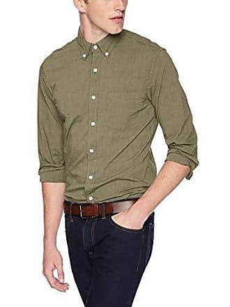 J.crew Mens Slim-Fit Long-Sleeve Solid Shirt, Heather Light Olive, L