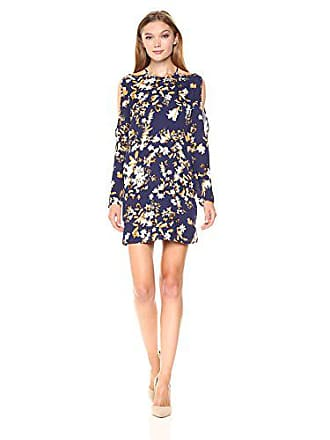 b7681eb7dd5f Ali & Jay Womens Floral Romance Print Cold Shoulder Mini Dress, Navy  Vintage, Medium