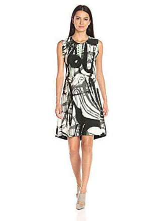 Norma Kamali Womens Sleeveless Swing Dress Bonded Graffiti Print, M