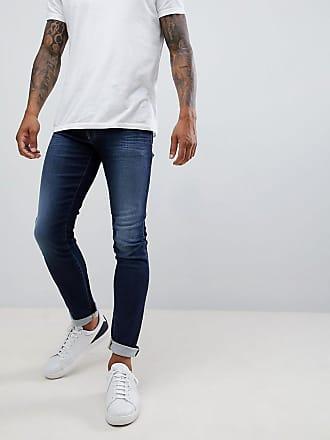 Armani J14 skinny fit 5 pocket stretch jeans in mid wash - Blue