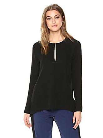 Theory Womens Long Sleeve Slit Front Tunic, Black, P