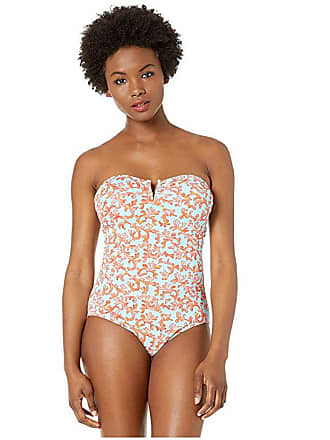 b0aec41481114 Tommy Bahama Coral Cabana V-Wire Bandeau (Swimming Pool Blue) Womens Swimsuits  One