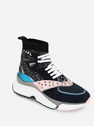 Karl Lagerfeld Aventur Hi Top Mix-Knit Sneaker