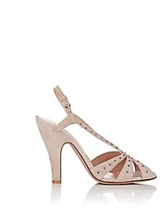 46e134b3403a Valentino Womens Embellished Suede Slingback Pumps - Pink Size 9