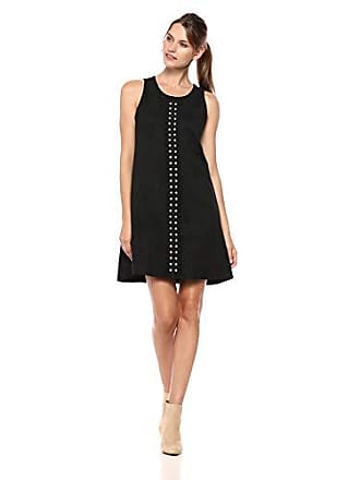 Karen Kane Womens Studded A-LINE Dress, Black, Extra Small