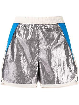 8pm metallic track shorts - Grey