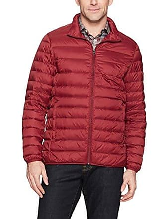 Amazon Essentials Mens Lightweight Water-Resistant Packable Down Jacket, Brick Red, Large