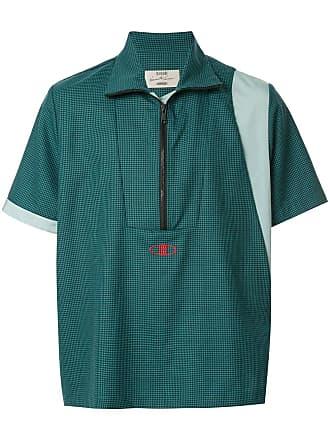Necessity Sense Camisa com zíper na gola - Verde