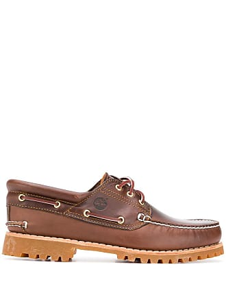 Timberland contrast stitch boat shoes - Brown