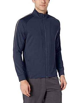 Amazon Essentials Mens Performance Track Jacket, Navy, Large