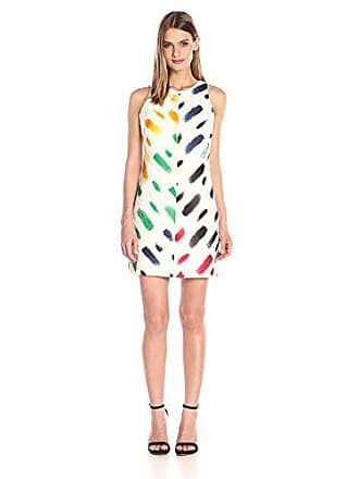 5fa4aa91d369 Milly Womens Couture Brushstroke A-Line Shift Dress