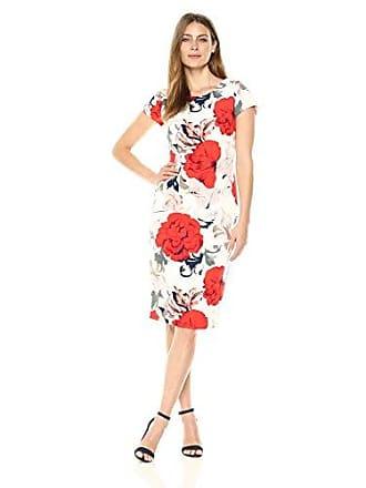 fcbdc6967429 Ivanka Trump Womens Cap Sleeve Floral Shift Dress
