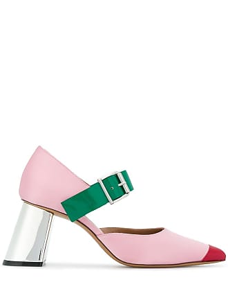 Marni buckled pointy pumps - Pink