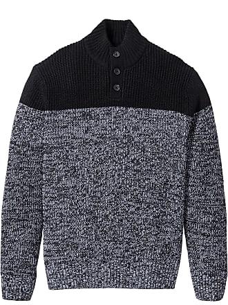 dc9ef68fe98b2 Bonprix Bonprix - Pull Regular Fit noir manches longues pour homme