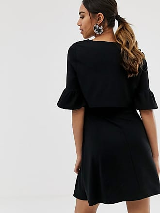 21585cb490e Asos Maternity ASOS DESIGN Maternity mini skater dress with crop top layer  - Black