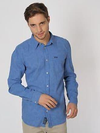 Pepe Jeans London Camisa con Motivos Florales<br>Regular Fit<br>Azul