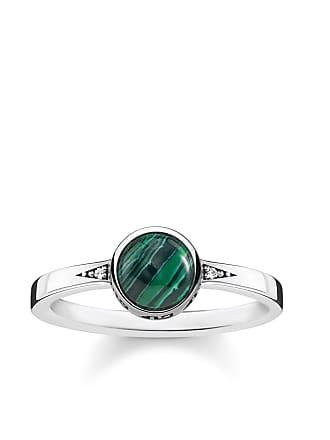 3af6ed7c7e92 Thomas Sabo Thomas Sabo anillo verde TR2177-880-6-48