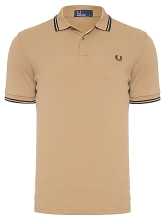 Fred Perry POLO MASCULINA TWIN TIPPED - BEGE