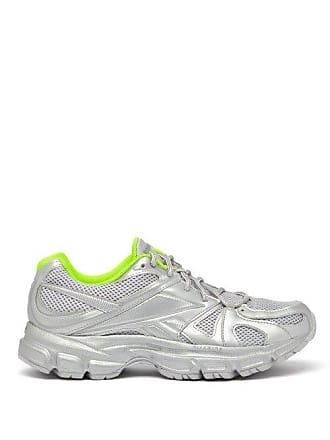 VETEMENTS X Reebok Spike Runner 200 Mesh Trainers - Womens - Silver