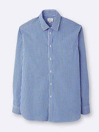 bd6b147f18c7 Cyrillus Herren-Hemd, klassisch, zweifarbige Vichy-Karos blau weiß
