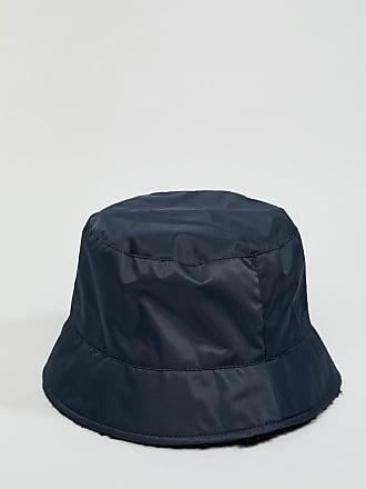 Asos bucket hat in nylon with borg internal - Navy e46ab8ec5