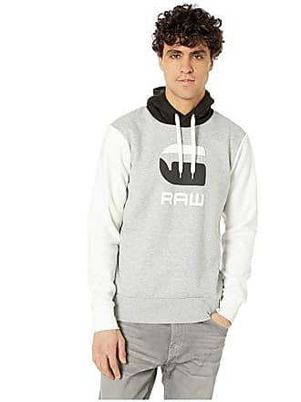 G-Star Graphic 19 Core Long Sleeve Hooded Sweatshirt (Grey Heather) Mens Clothing