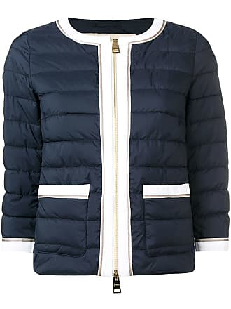 Herno contrast trim quilted jacket - Blue