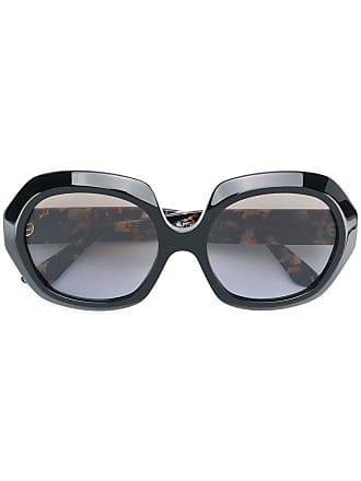 Emmanuelle Khanh round oversized sunglasses - Preto