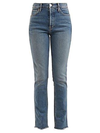 Re/Done Re/done Originals - Double Needle Slim Leg Jeans - Womens - Blue