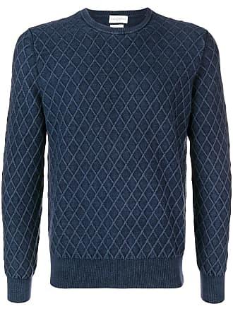 Ballantyne Suéter de tricô com padronagem - Azul