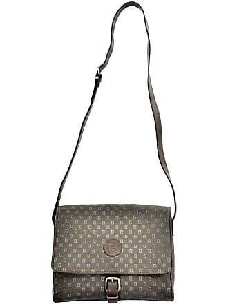 90aa3e9feb4a Fendi Vintage Fendi Sas Canvas   Leather Logo Handbag W Adjustable Shoulder  Strap