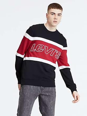 0cb712e7104bd Levi's Pieced Crewneck Sweatshirt Multicolore / Black, White & Brilliant Red