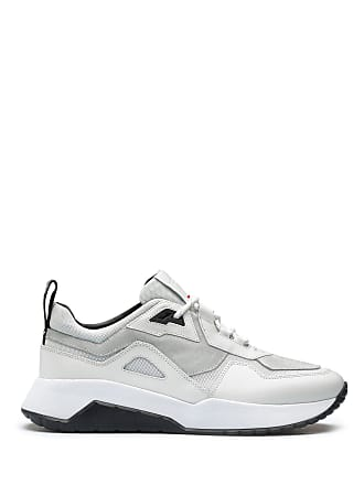 c491c03306 HUGO BOSS Mixed-material chunky sneakers with logo loop tape