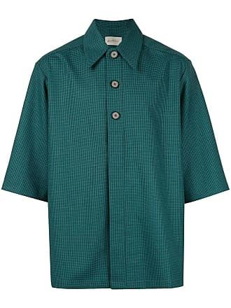 Necessity Sense Camisa henley xadrez - Verde