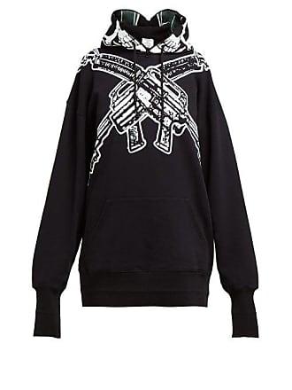 891ad007fba3 VETEMENTS Skull Print Cotton Hooded Sweatshirt - Womens - Black