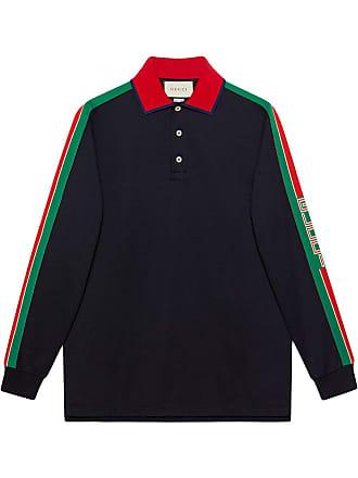 a2eb800d0a12e Gucci Cotton polo with Gucci stripe - Black
