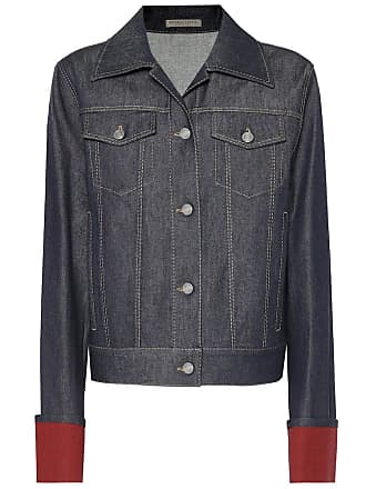 Bottega Veneta Suede-trimmed denim jacket