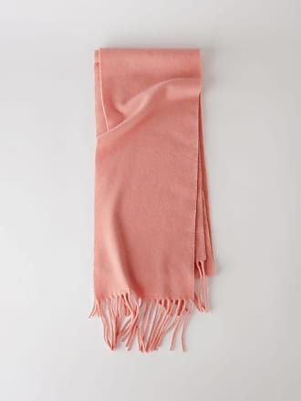 b5a3085fe65 Acne Studios Canada Skinny Rose pâle Écharpe très étroite à franges