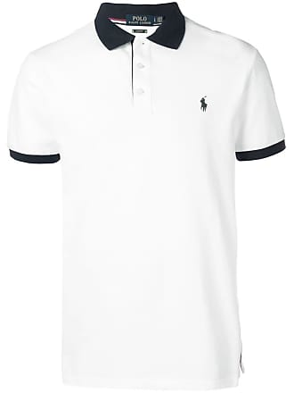 Polo Ralph Lauren contrast collar polo shirt - White