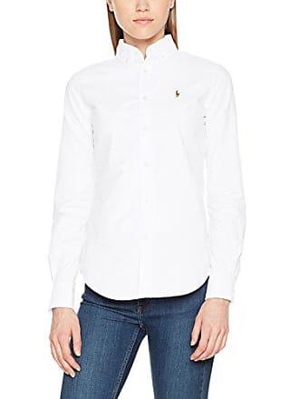 92d1c415c1 Polo Ralph Lauren NGL Kendal-Long Sleeve-Shirt Chemise, Blanc (BSR White