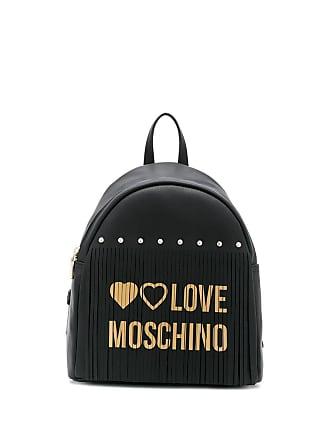 Love Moschino logo fringed backpack - Preto