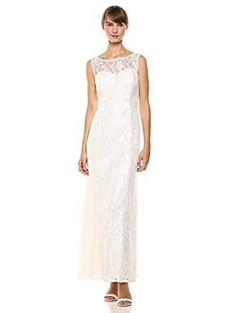 Ignite Womens Dress Zipper Sequin Lace Beaded Gown, Ivory Solid, 16