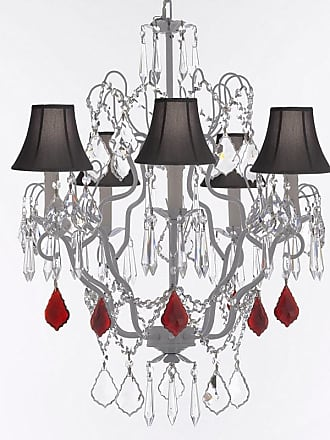 Gallery T22-2652 5 Light 21 Wide Crystal Chandelier with Fabric