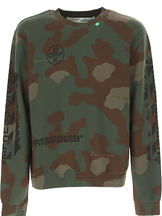 Off-white Sweatshirt for Men On Sale, camouflage, Cotton, 2017, M