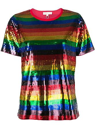 Michael Michael Kors Rainbow pailette T-shirt - Red