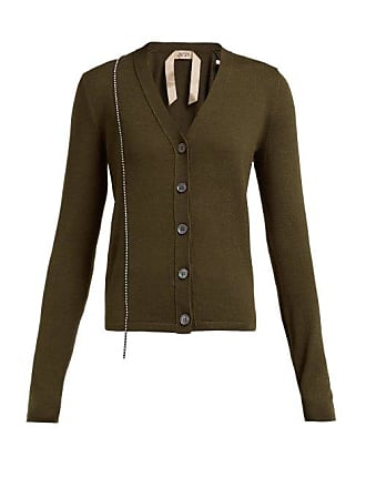 N°21 Crystal Embellished Wool Blend Cardigan - Womens - Green