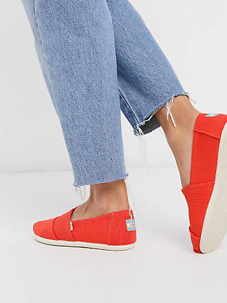 Toms alpargata summer shoes in red