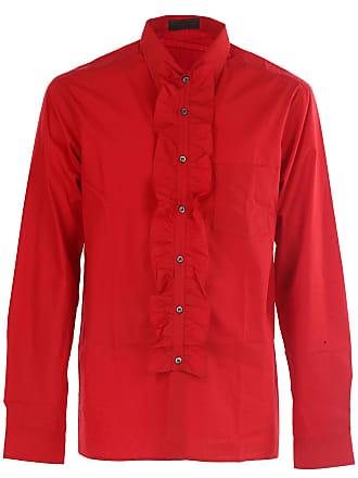 490a6db7c3 Prada Camicia Uomo On Sale in Outlet, Rosso, Cotone, 2017, 39