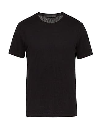 Helmut Lang Back Logo Print Mesh T Shirt - Mens - Black